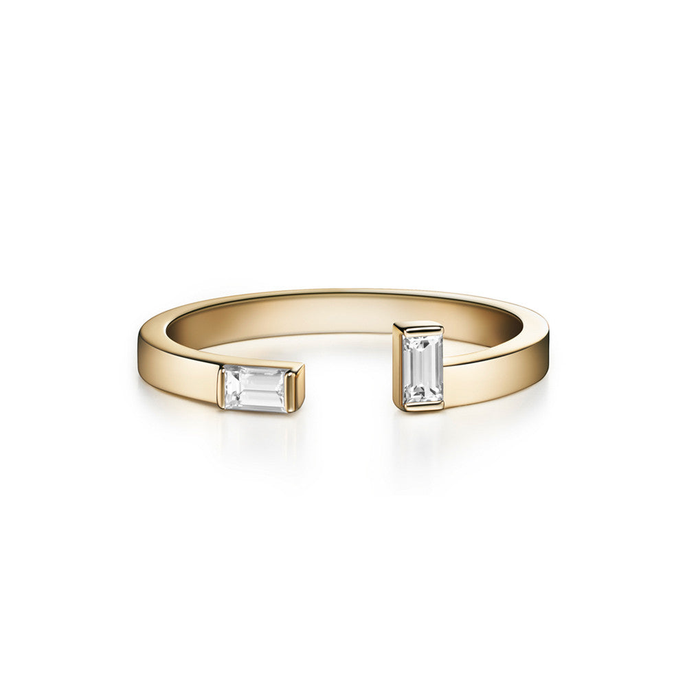 Selin Kent 14K Marla Ring with Baguette Diamonds