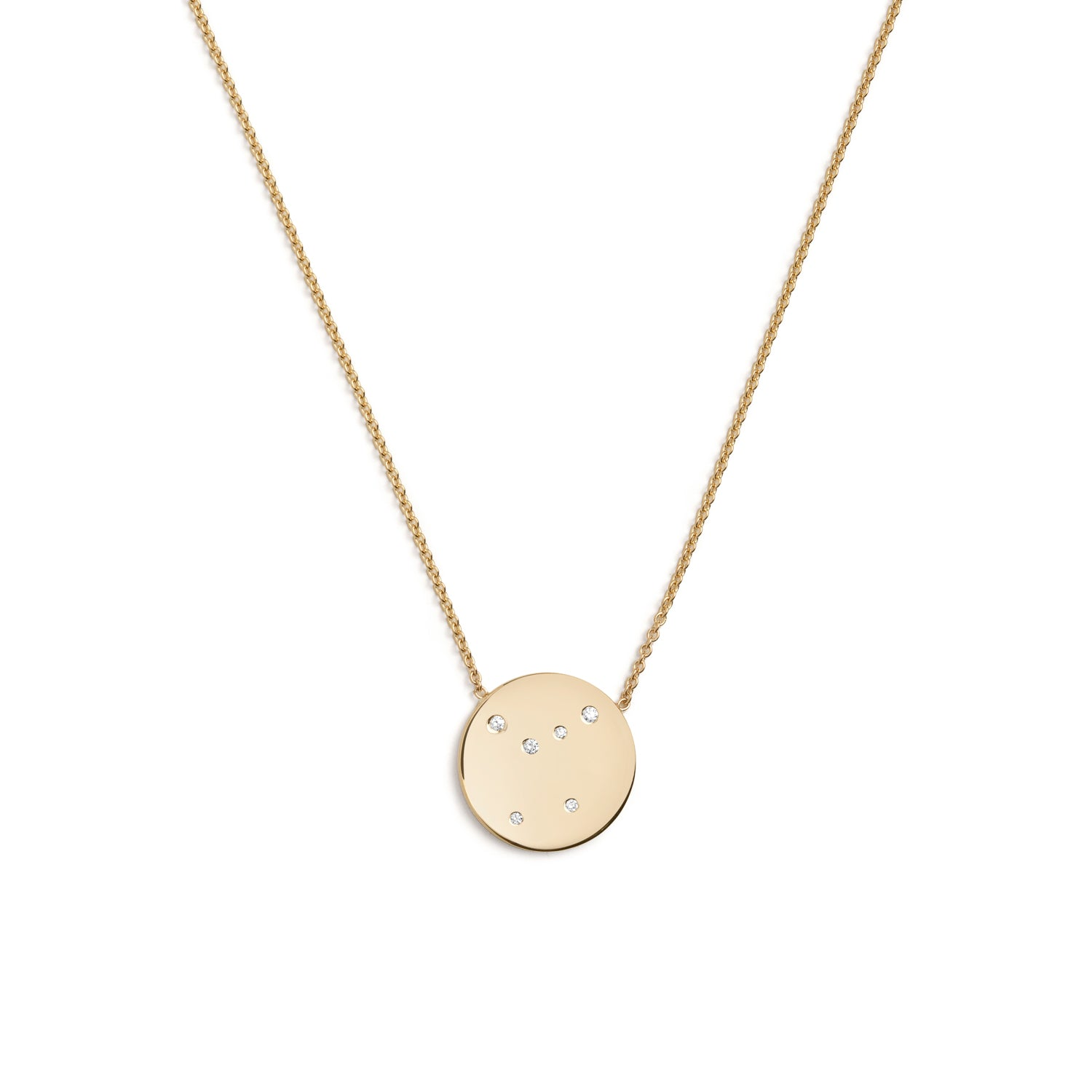 Cancer Star Sign Necklace in Gold