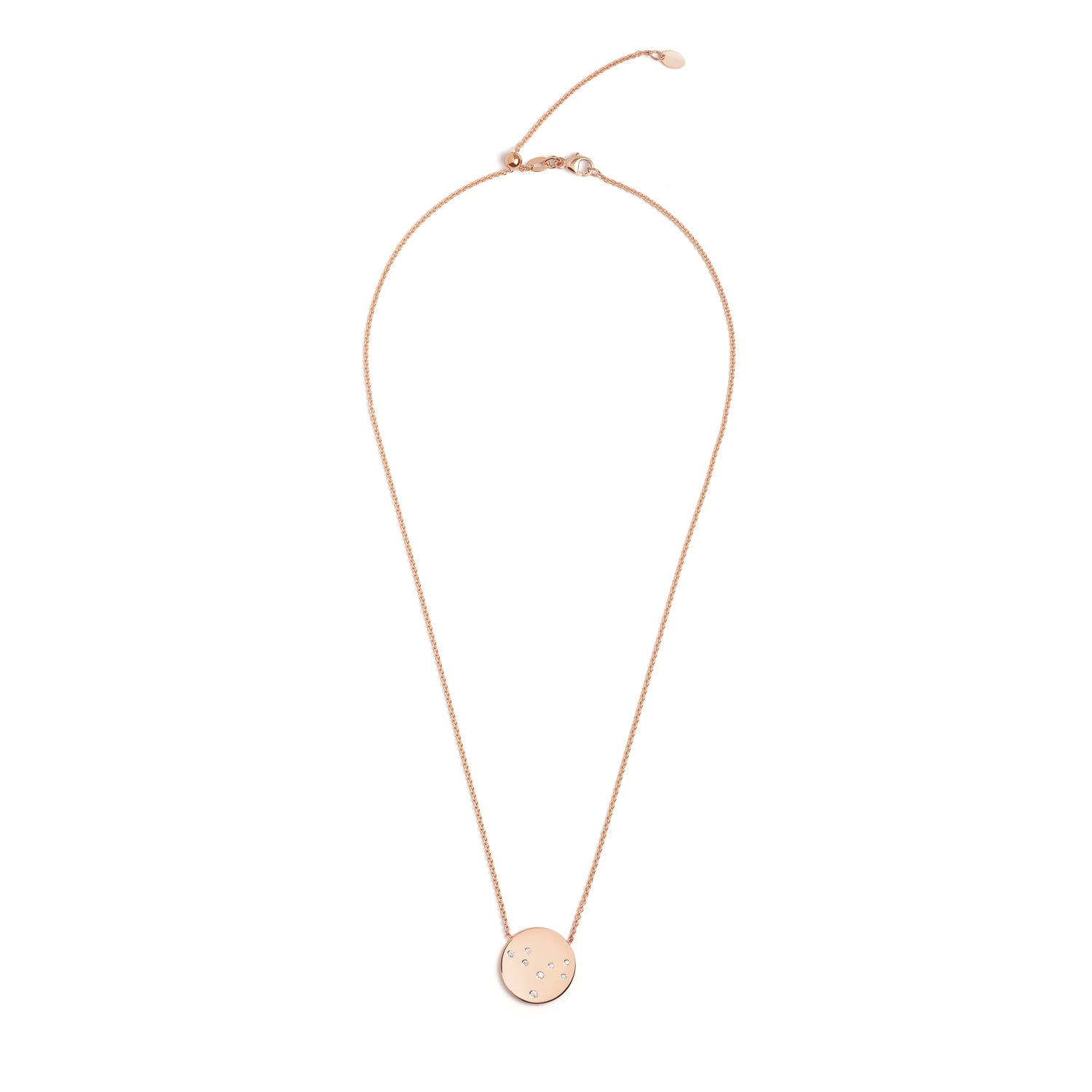 Star Sign Necklace in Rose Gold