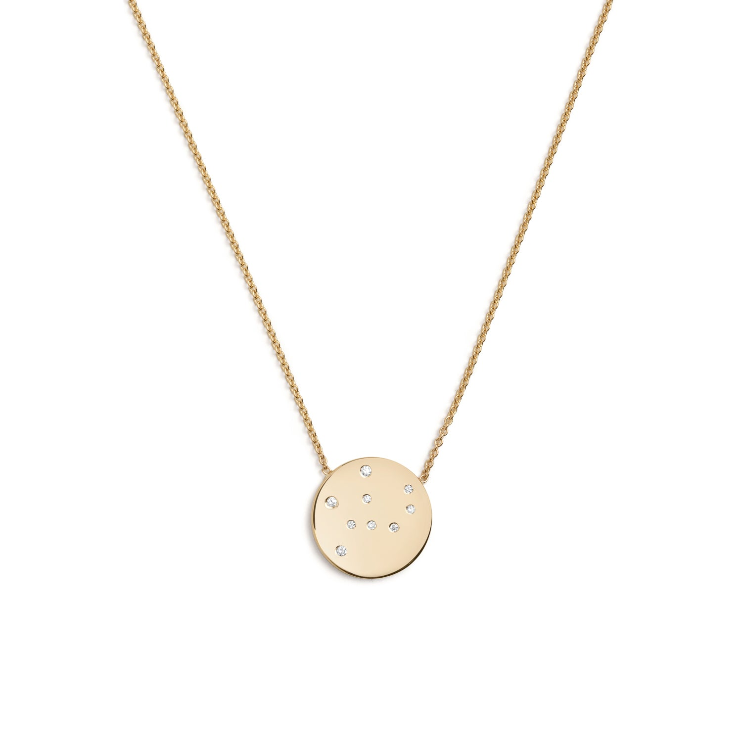 Virgo Star Sign Necklace in Gold