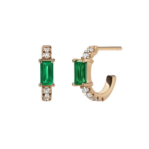 Galana Chain Earrings | Emerald