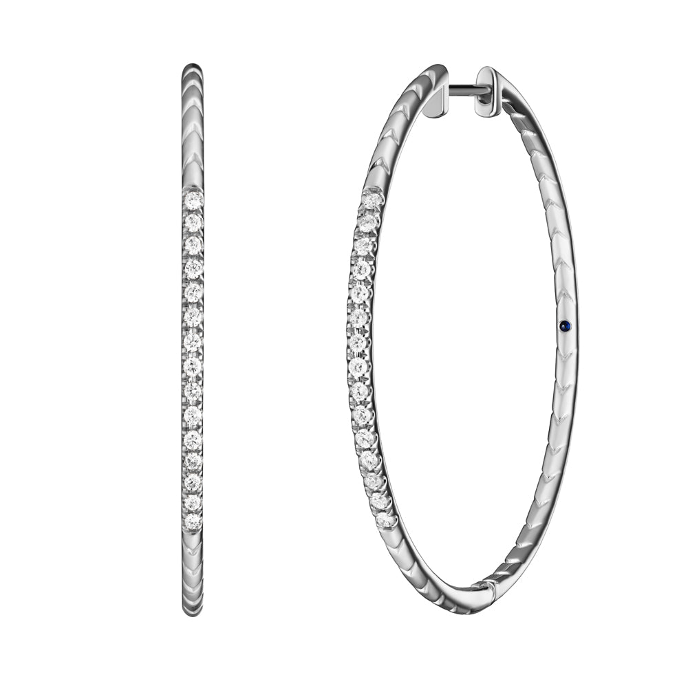 Rhea Hoops | White Diamonds