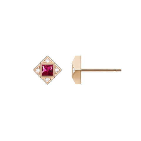 Charlotte Mini Pavé Studs | Champagne Diamonds