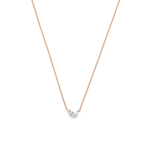 Defne Necklace | White Diamond & Ruby