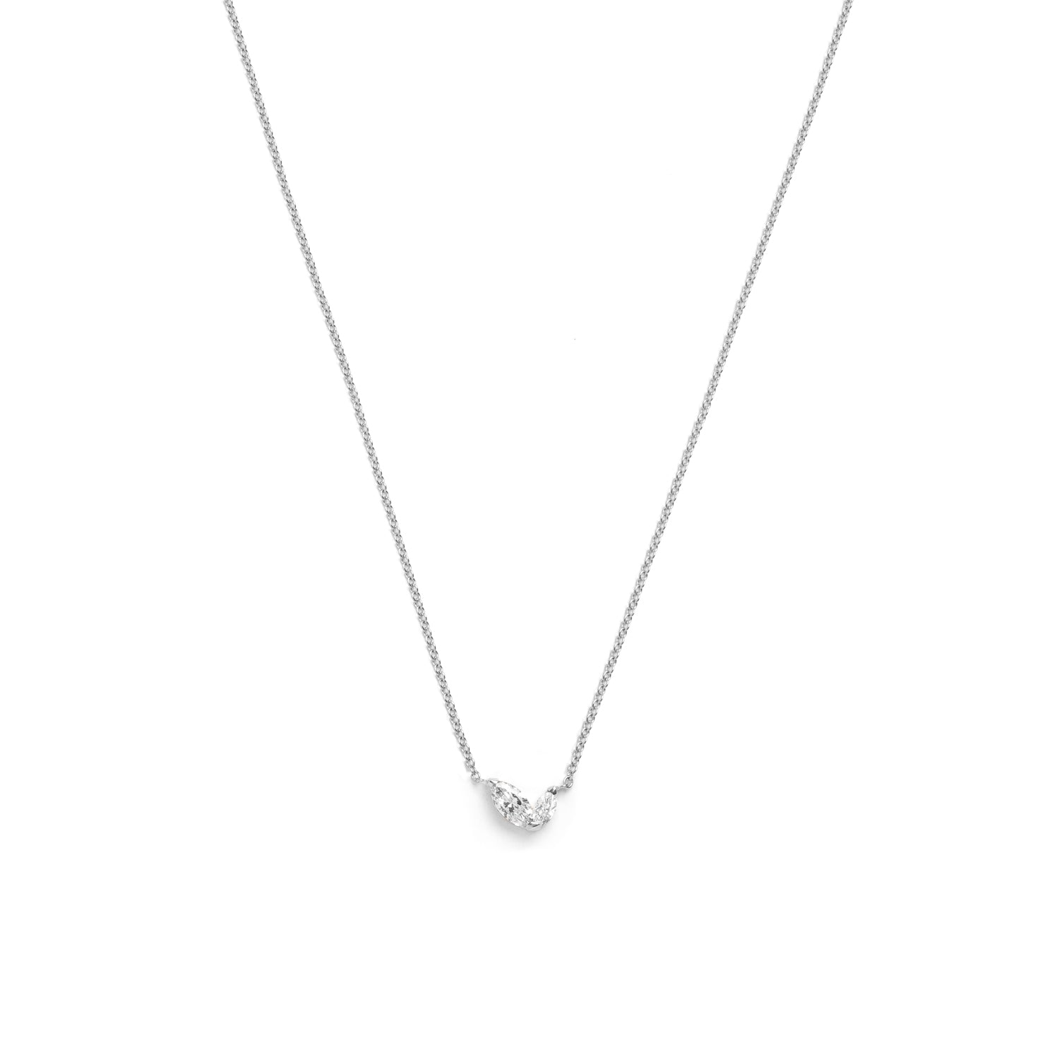 Selin Kent 14K Defne Necklace with Two Marquise White Diamonds