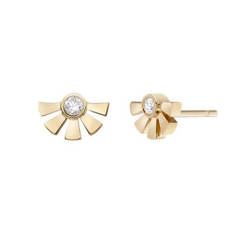 Helia Studs - Ruby / Cognac Diamonds