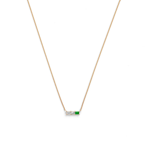 Rhea Necklace | White Diamond & Ruby