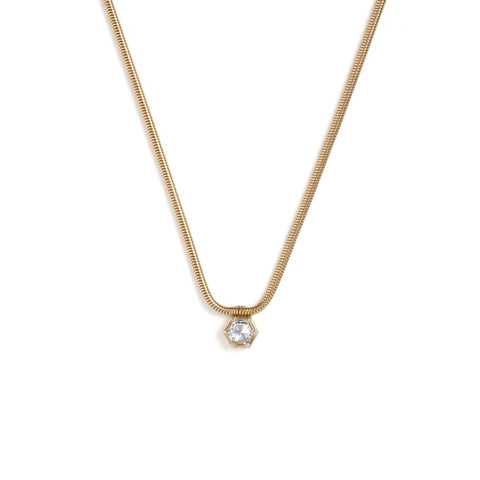 Floating Rose Cut Diamond Necklace