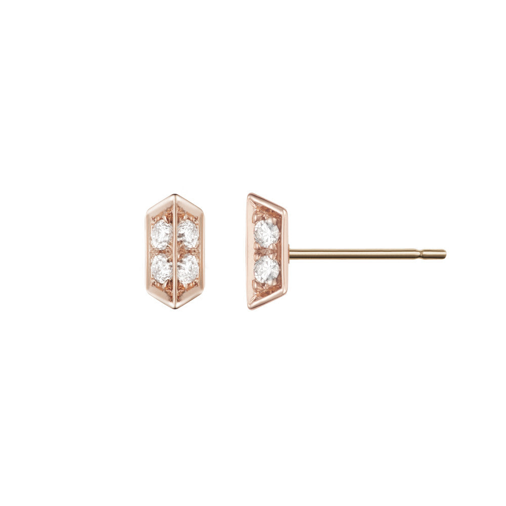 Selin Kent 14K Sophia Studs with White Diamonds