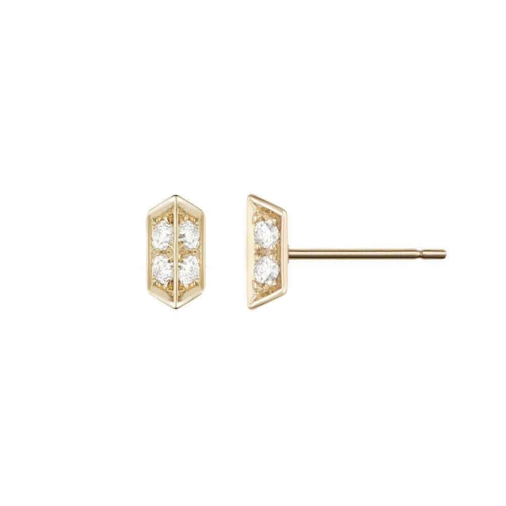c3bdc92f7 Selin Kent 14K Sophia Studs with White Diamonds