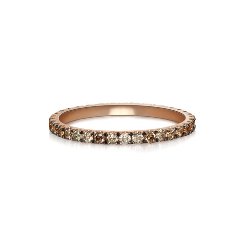 Selin Kent 14K Terra Incognita Band with Champagne Diamonds and Grey Diamonds