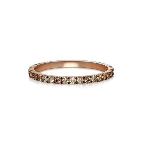Pavé Eternity Band | Black Diamonds