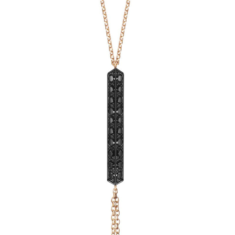 Selin Kent 14K Valli Lariat with Black Diamonds