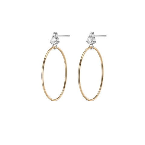 Gaia Chain Earrings | White Diamond