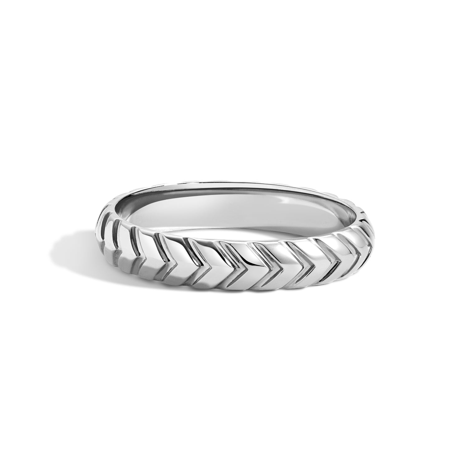 Ian Ring - Chevron Men's Wedding Band