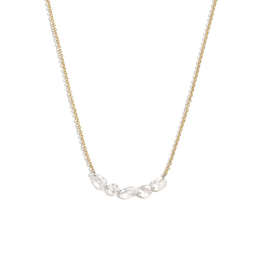 Lina Floating Diamond Link Necklace