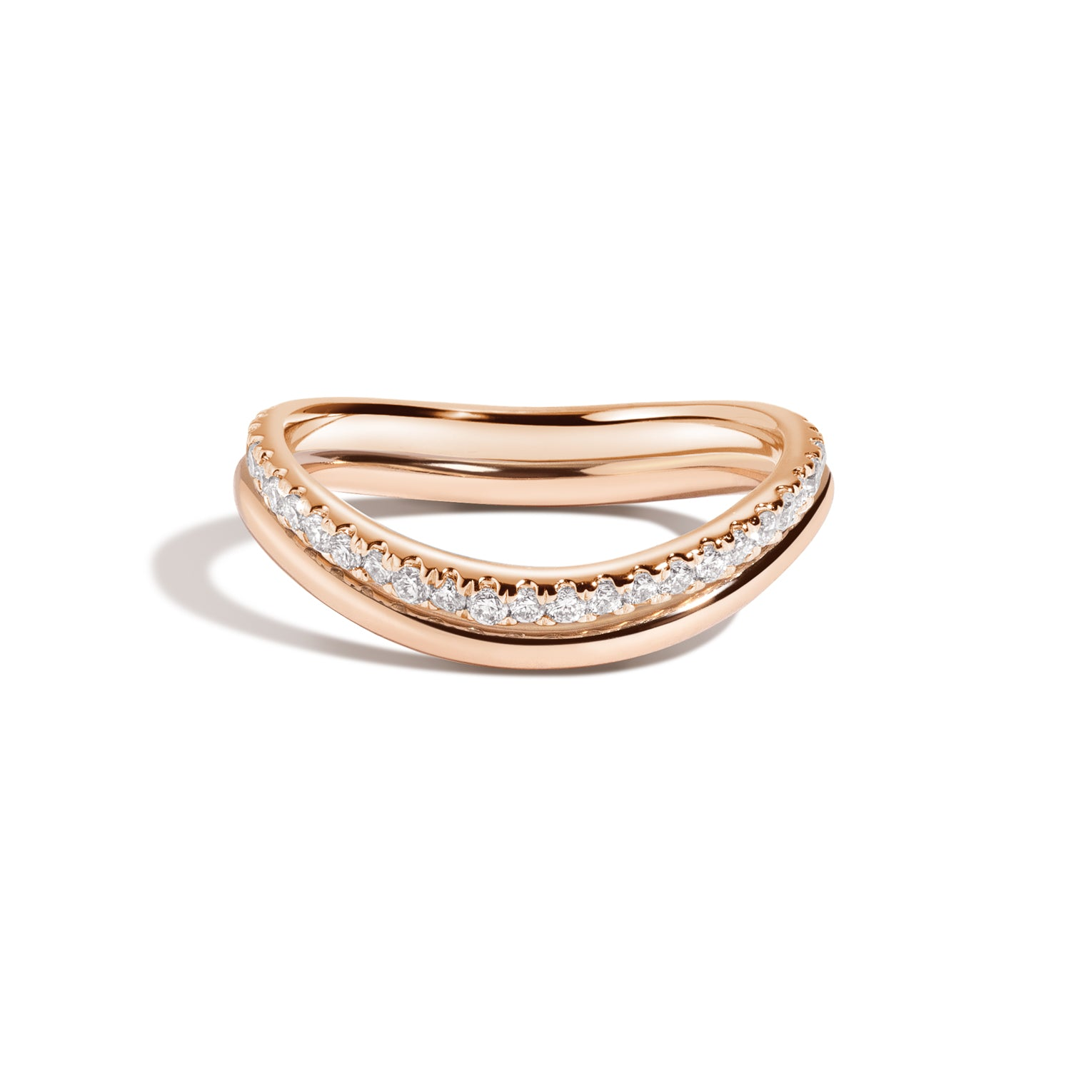 Bossa Nova Band & Diamond Ring Set