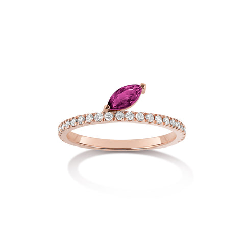 Eva Ring | Rubies and Black Diamonds