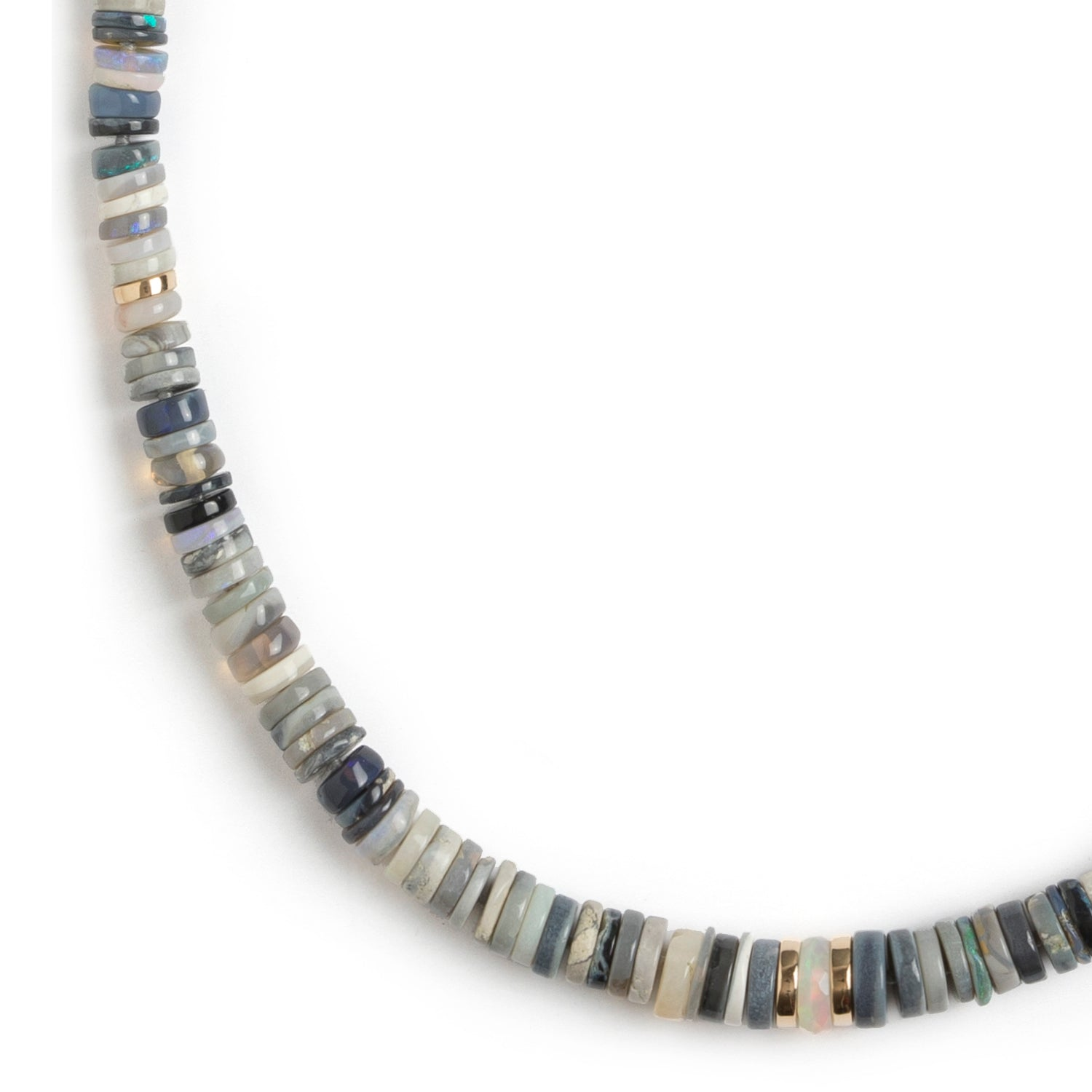 Opal Heishi Bead Necklace
