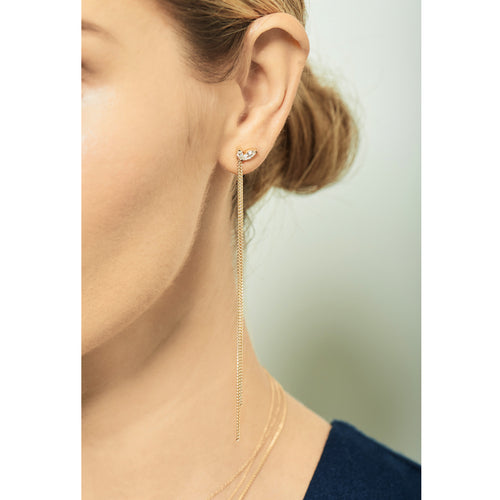 Selin Kent 14K Defne Mismatch Earrings with Diamonds - On Model