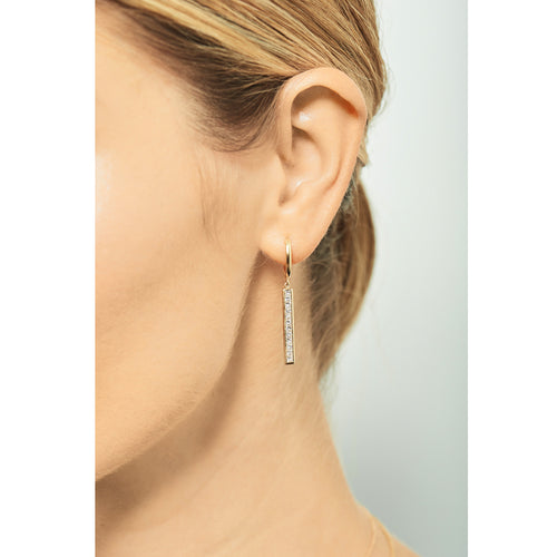 Selin Kent 14K Emmeline Earrings with White Diamonds - On Model