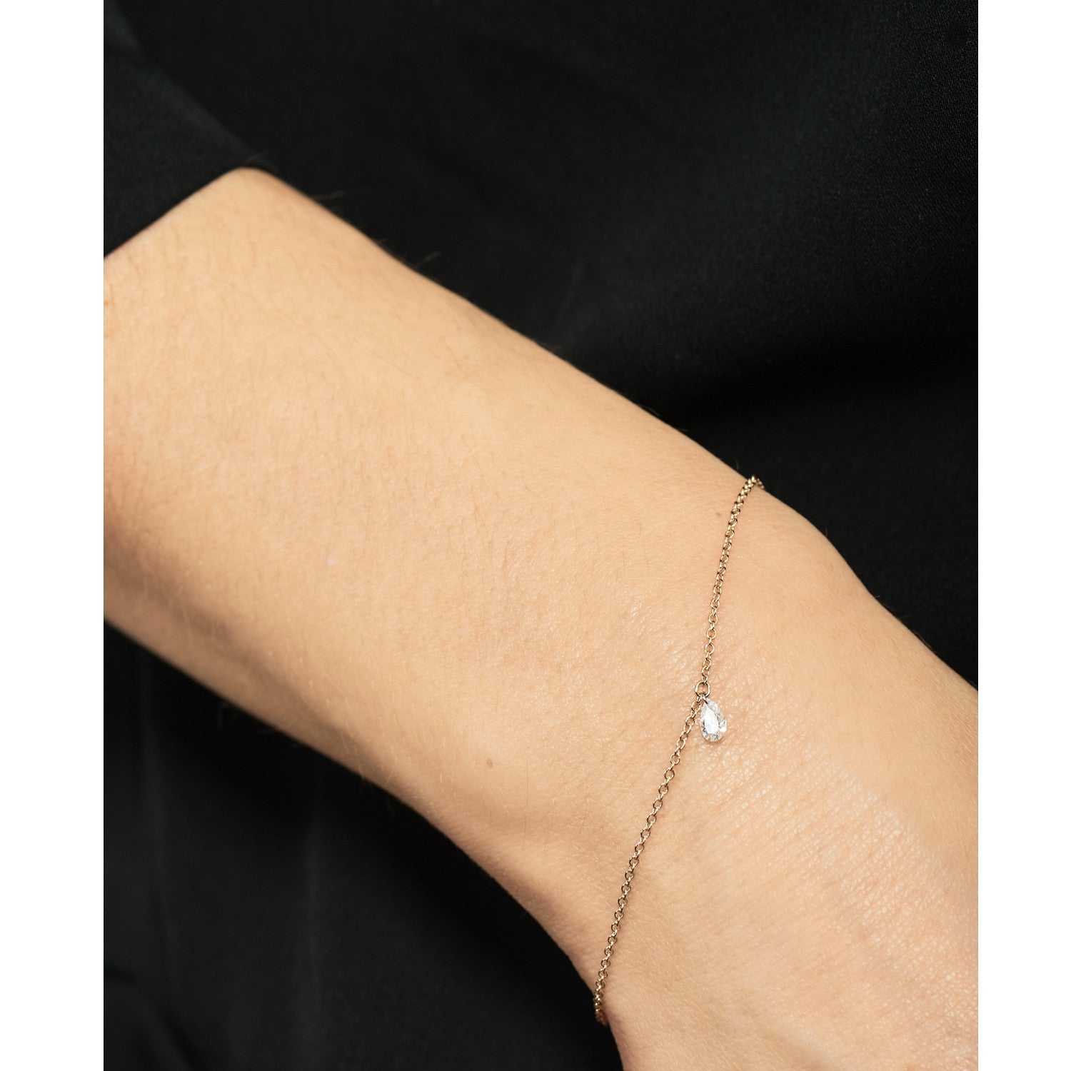Selin Kent 14K Ersa Bracelet with Pear White Diamond - On Model
