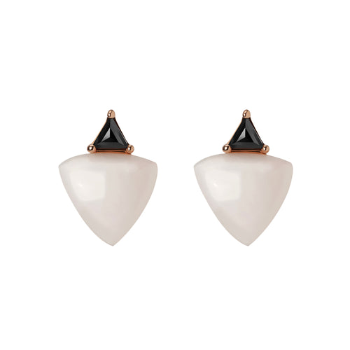Selin Kent 14K Zenobia Earrings with Pink Opal and Black Diamonds