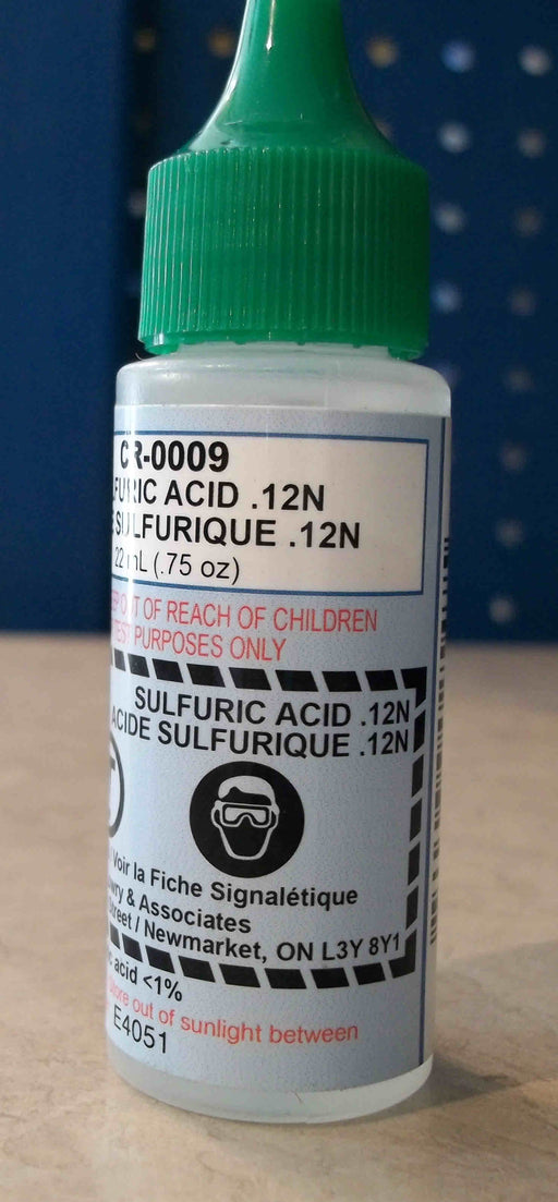 SULFURIC ACID   22ML  .75OZ
