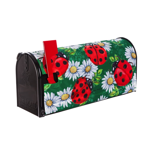 LADYBUGS ON GREEN MAILBOX COVER