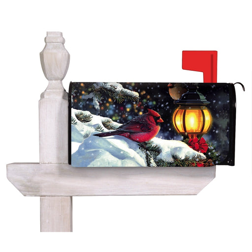 SNOWY NIGHT BIRDS MAILBOX COVER