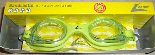 SANDCASTLE II GOGGLES YOUTH LEADER CLEAR/LIME GREEN
