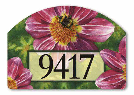 PINK FLOWER WITH BEE MAGNETIC ADDRESS