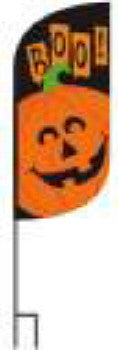 BOO 12 X 28 FEATHER BANNER