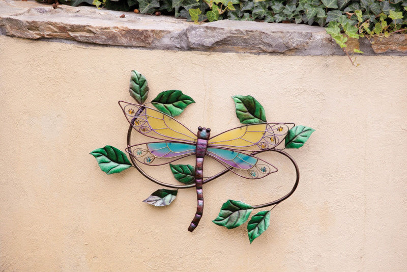 DRAGONFLY GLASS WALL PLAQUE