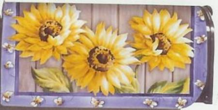 COUNTRY SUNFLOWERS  MAILBOX COVER