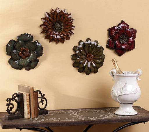 METAL FLOWER WALL PLAQUE