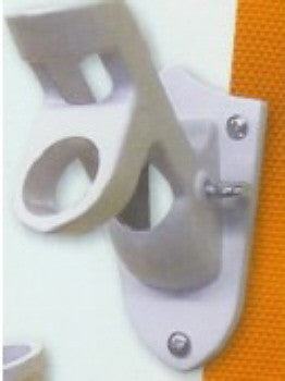 WHITE 2 POSITION FLAG POLE BRACKET