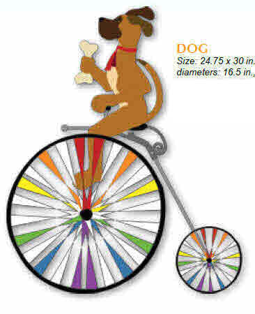 DOG HIGH WHEEL BICYCLE SPINNER