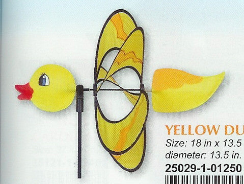 YELLOW DUCKY WHIRLY WING SPINNER