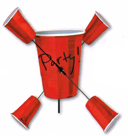 PARTY CUPS WHIRLIGIG SPINNER 15''