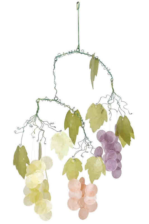 GRAPES CAPIZ WOODSTOCK WINDCHIME