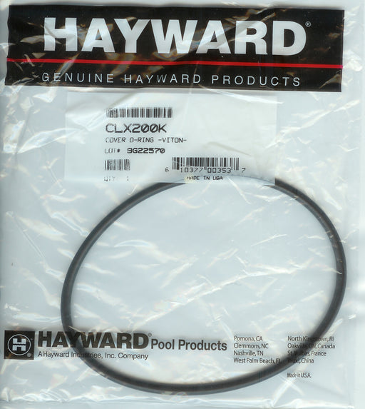 CHLORINE FEEDER COVER VITON O'RING HAYWARD CLX200K