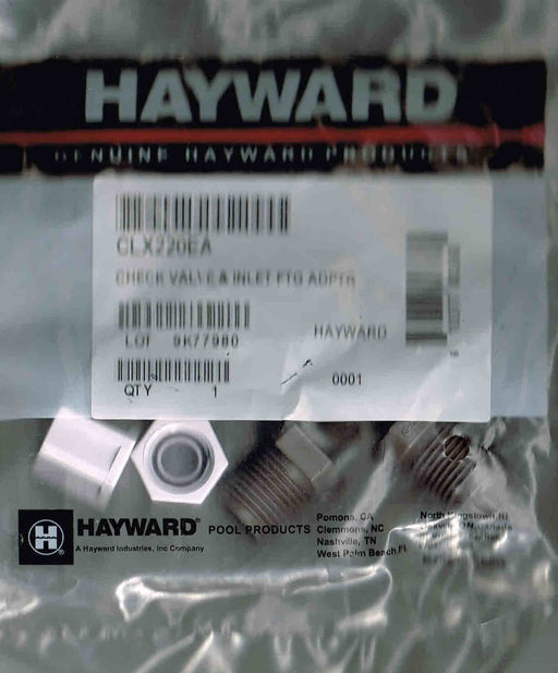 BALL VALVE, 2 COMPRESSION NUTS & ADAPTER HAYWARD CLX220EA