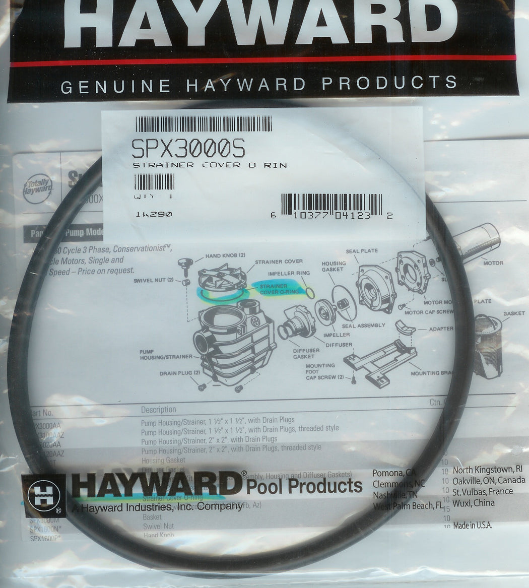 PUMP COVER / LID O'RING HAYWARD SPX3000S