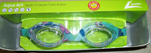 AQUA ART JR GOGGLES YOUTH CLEAR / BLUE FLOWER LEADER