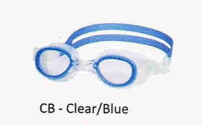 COURSE GOGGLES ADULT CLEAR/BLUE LEADER