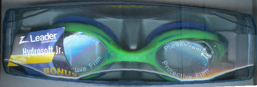 HYDROSOFT JR.  GOGGLES CLEAR / GREEN & BLUE