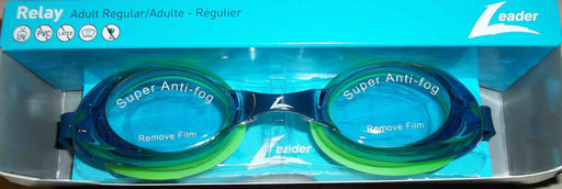RELAY GOGGLES ADULT BLUE / BLUE GREEN LEADER