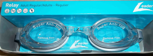 RELAY GOGGLES ADULT CLEAR / SILVER LEADER