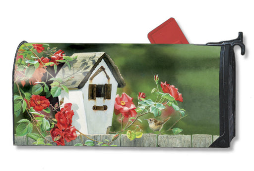 ROSE COTTAGE WRENS MAILBOX COVER